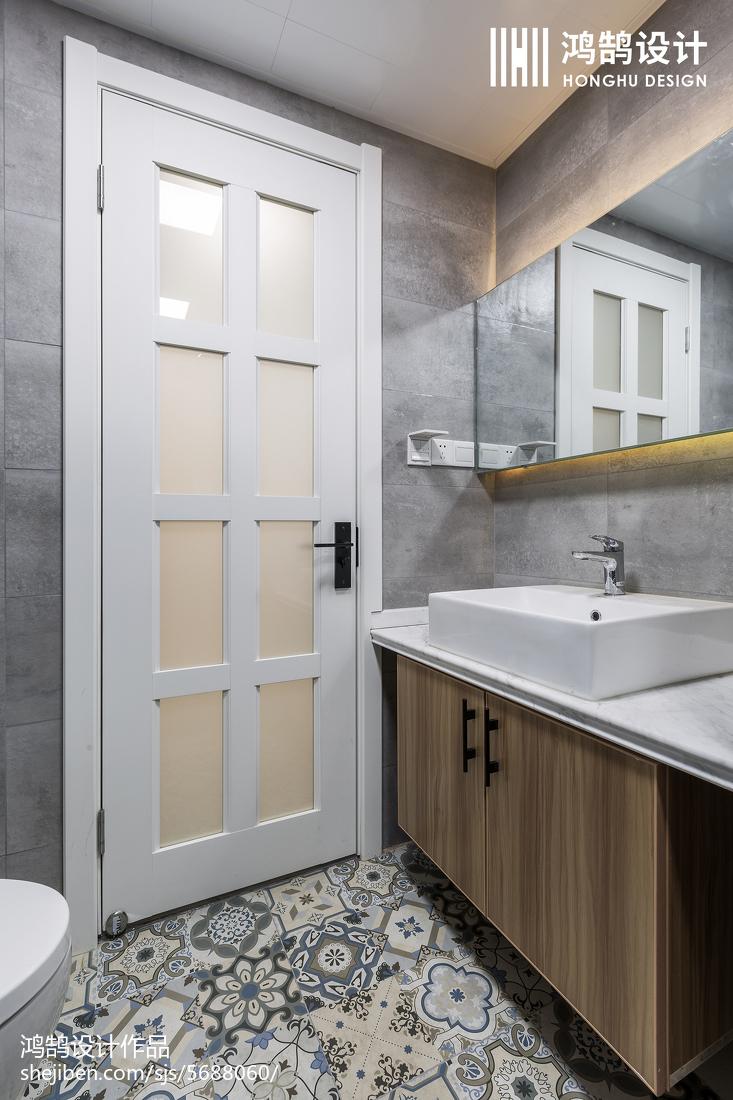 精美面积70平北欧二居卫生间装修设计效果图片欣赏