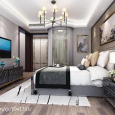 热门面积126平现代四居卧室效果图片