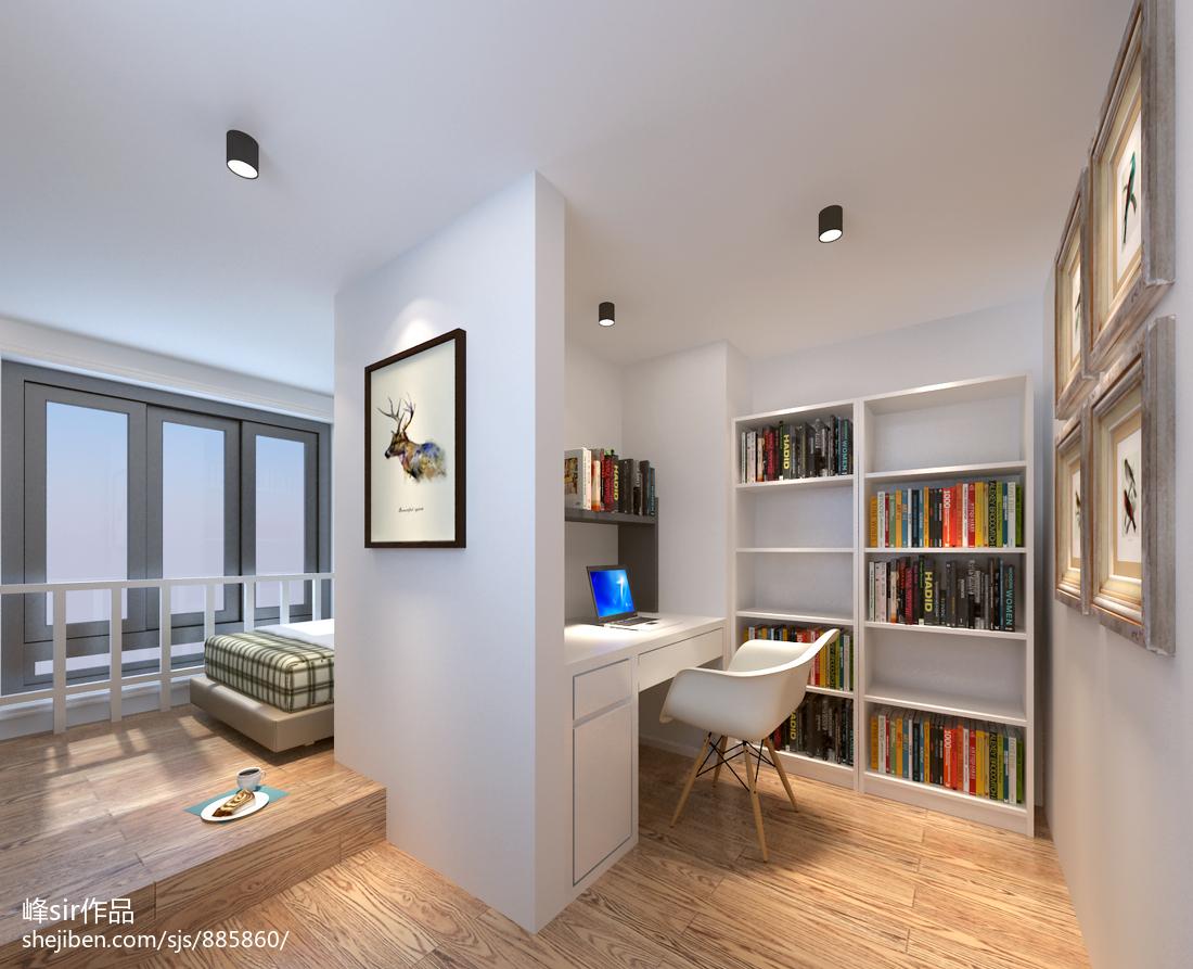 精美面积81平小户型书房北欧装修图片欣赏