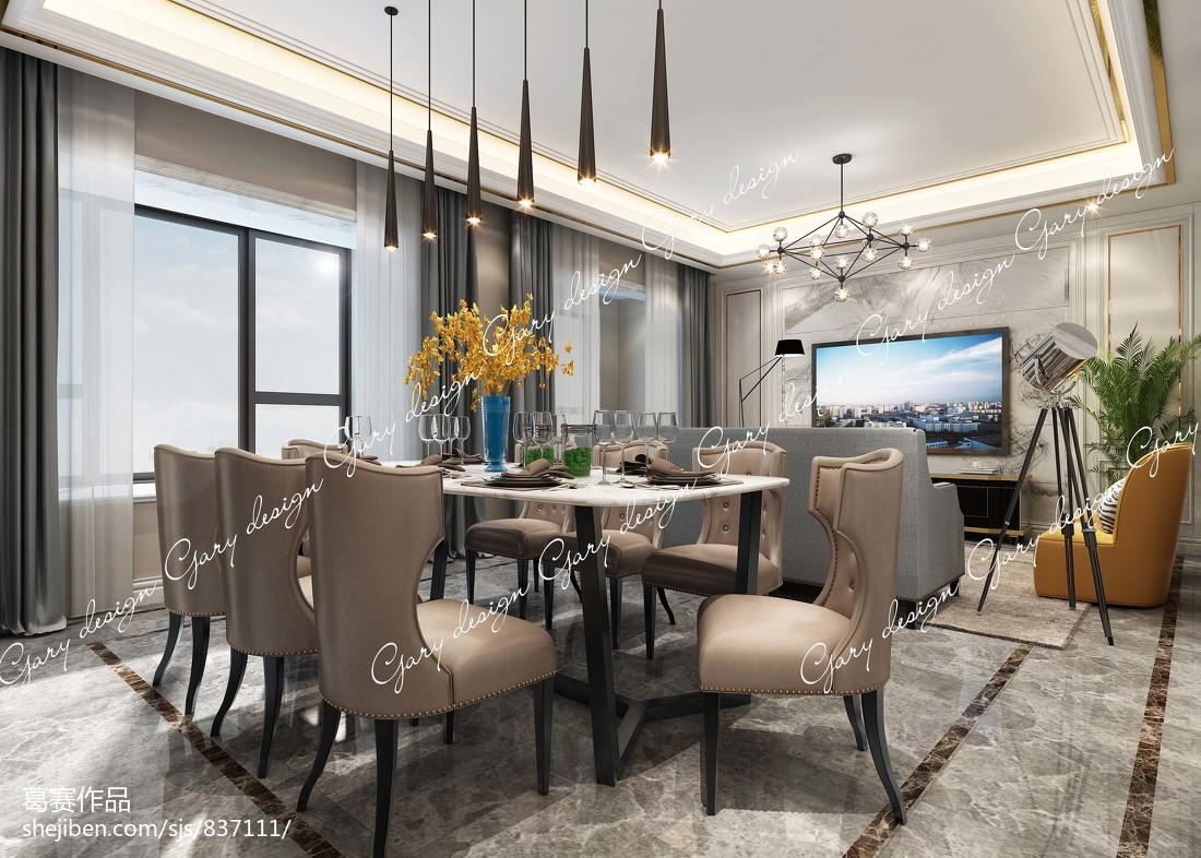 热门面积125平别墅中式装修设计效果图片大全