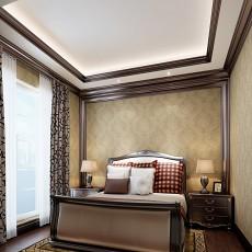 122平米美式别墅卧室装修效果图片欣赏