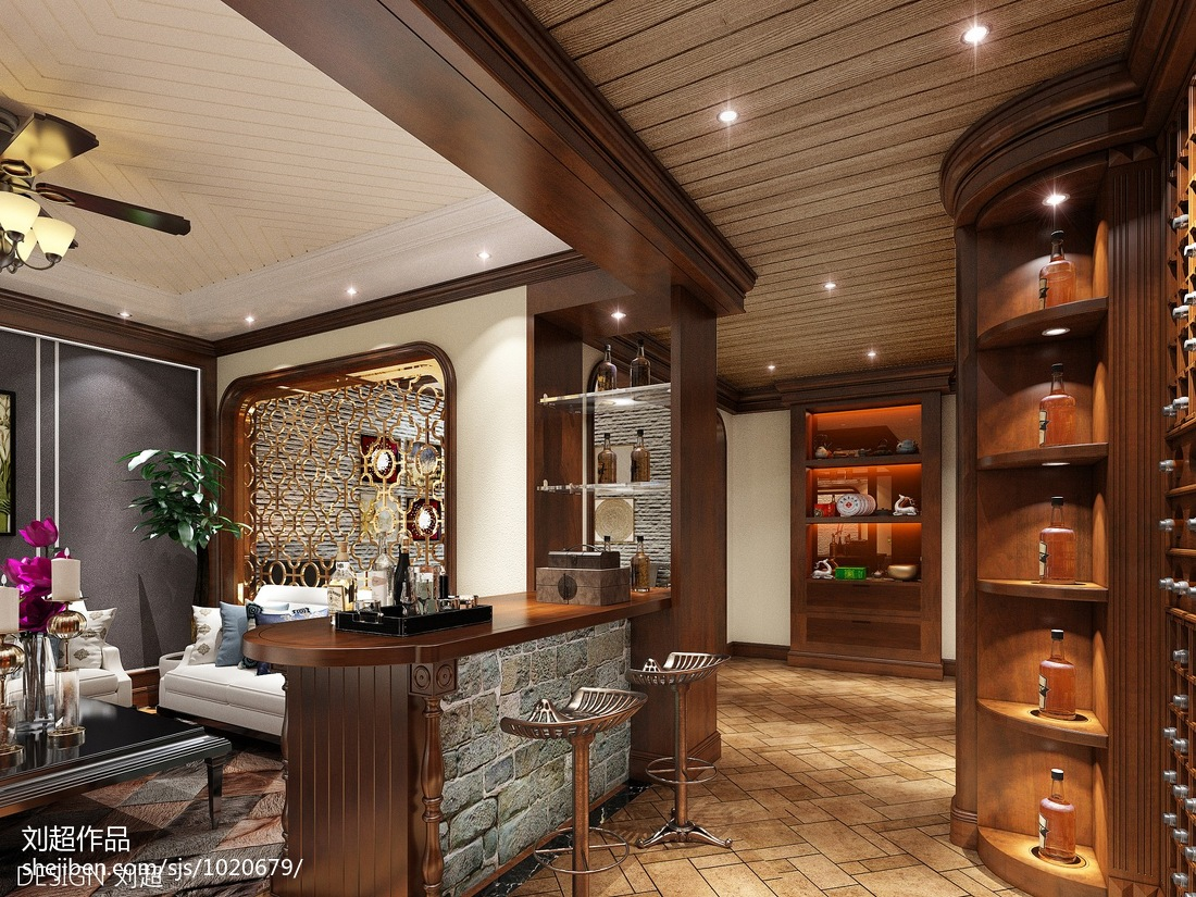 简约厨房吧台装修设计效果图欣赏