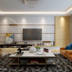 2018精选面积101平现代三居客厅效果图片欣赏