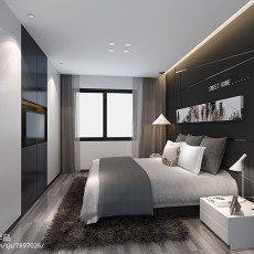 2018精选面积74平现代二居卧室实景图片