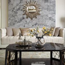 精选109平方三居客厅美式装修设计效果图片大全