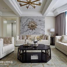 精美大小101平美式三居客厅实景图