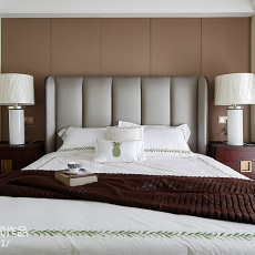 精美面积102平美式三居卧室效果图片