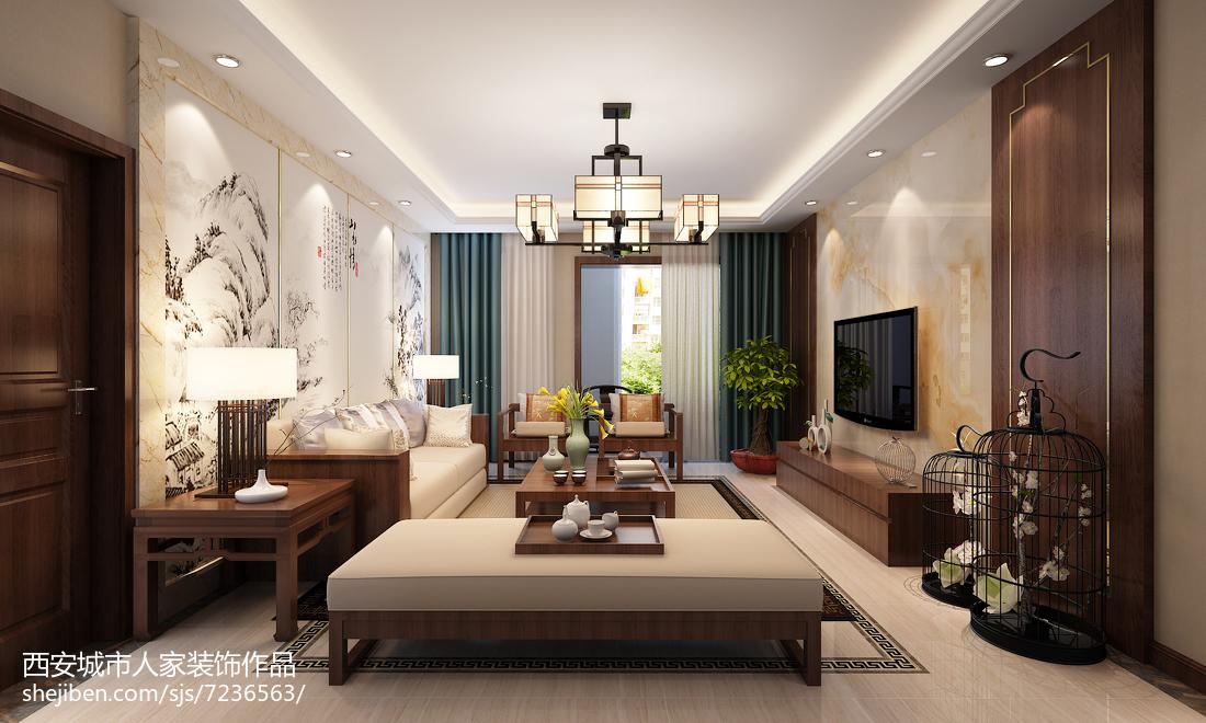 简约中式客厅吊顶