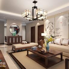 中式客厅沙发背景装修效果图
