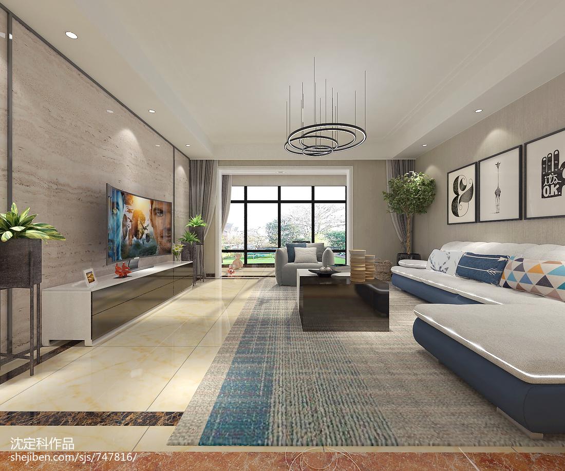 2018美式四居装修设计效果图片