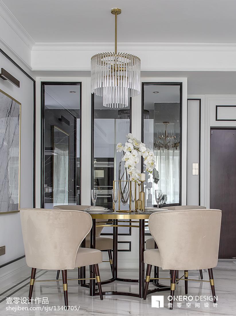 热门100平米三居餐厅现代装修实景图
