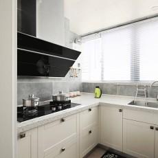 103平米三居厨房美式装修实景图片