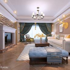 美式小客厅装修效果图欣赏