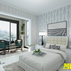 精美面积74平现代二居卧室装修欣赏图