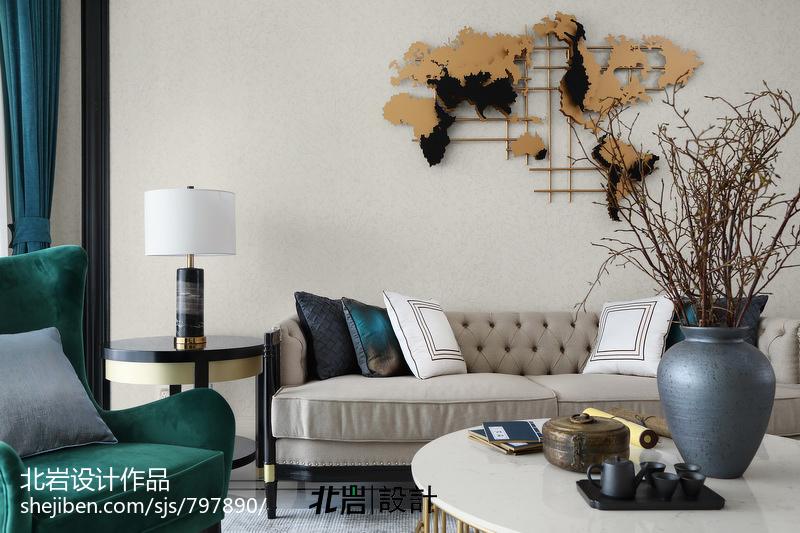 2019137平中式四居客厅设计效果图