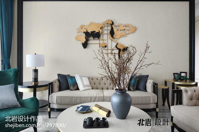 优美98平中式四居客厅装修案例