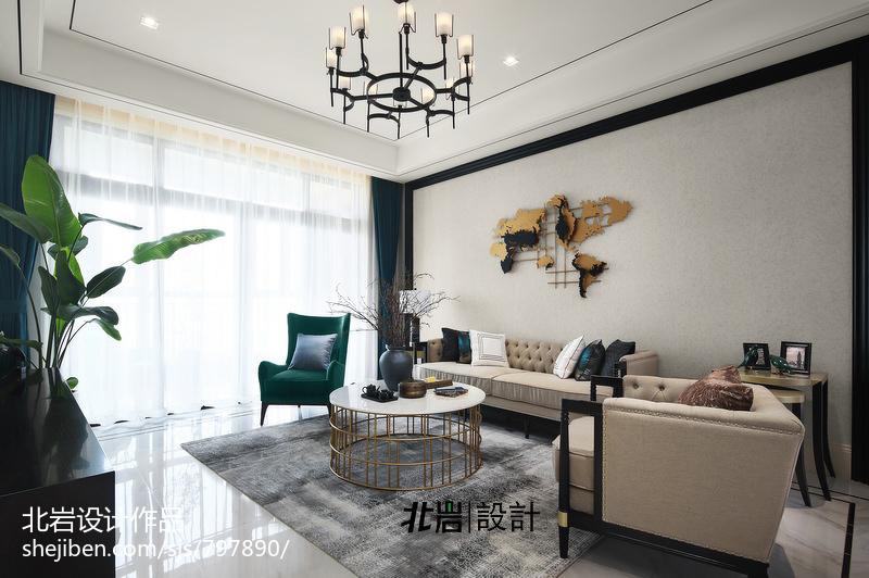典雅135平中式四居客厅设计美图