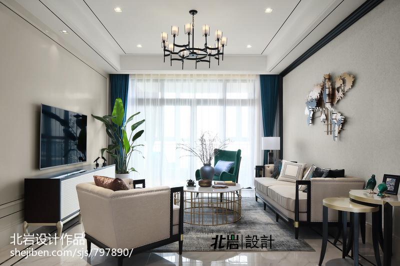 浪漫107平中式四居客厅图片欣赏