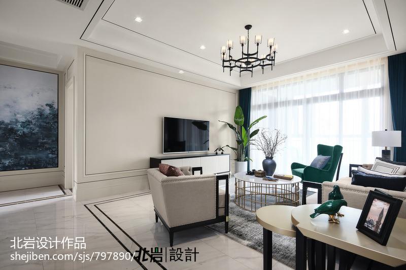 精致121平中式四居客厅实景图