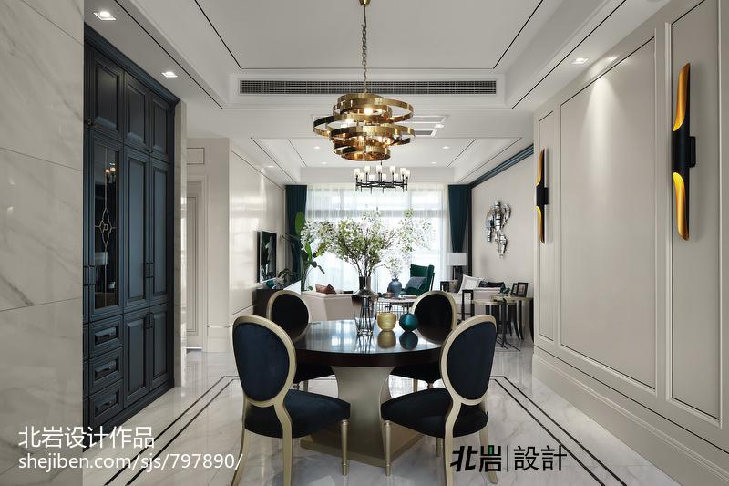优美156平中式四居餐厅装修美图