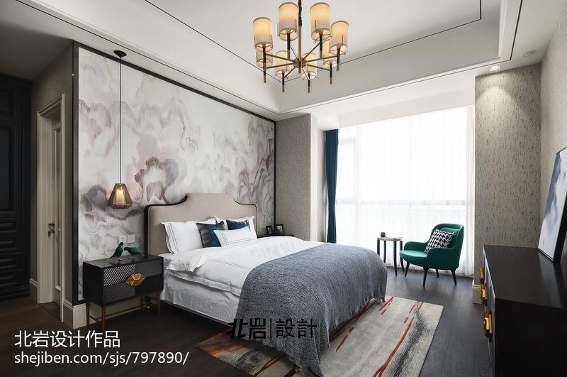 温馨124平中式四居卧室装饰图