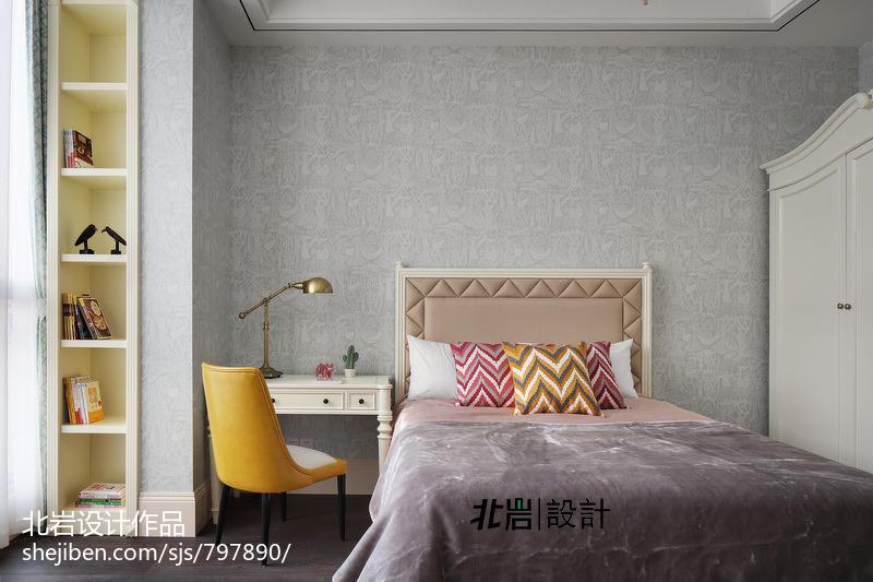 温馨140平中式四居卧室实景图