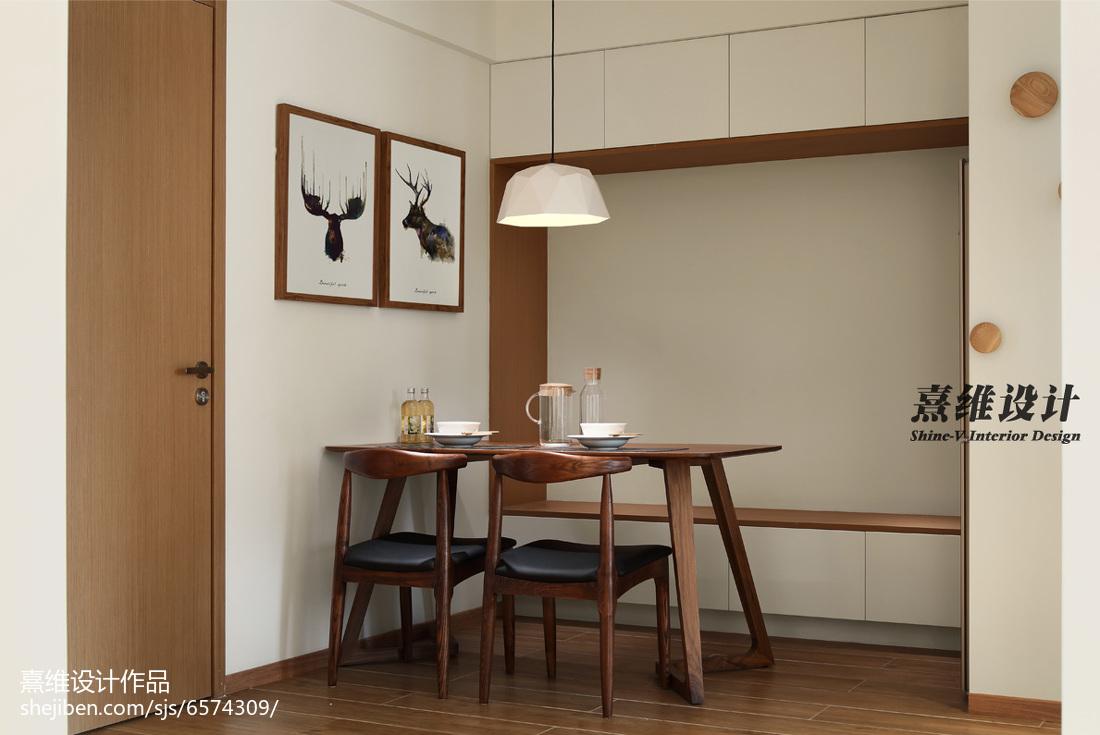 典雅53平简约二居餐厅装饰图片