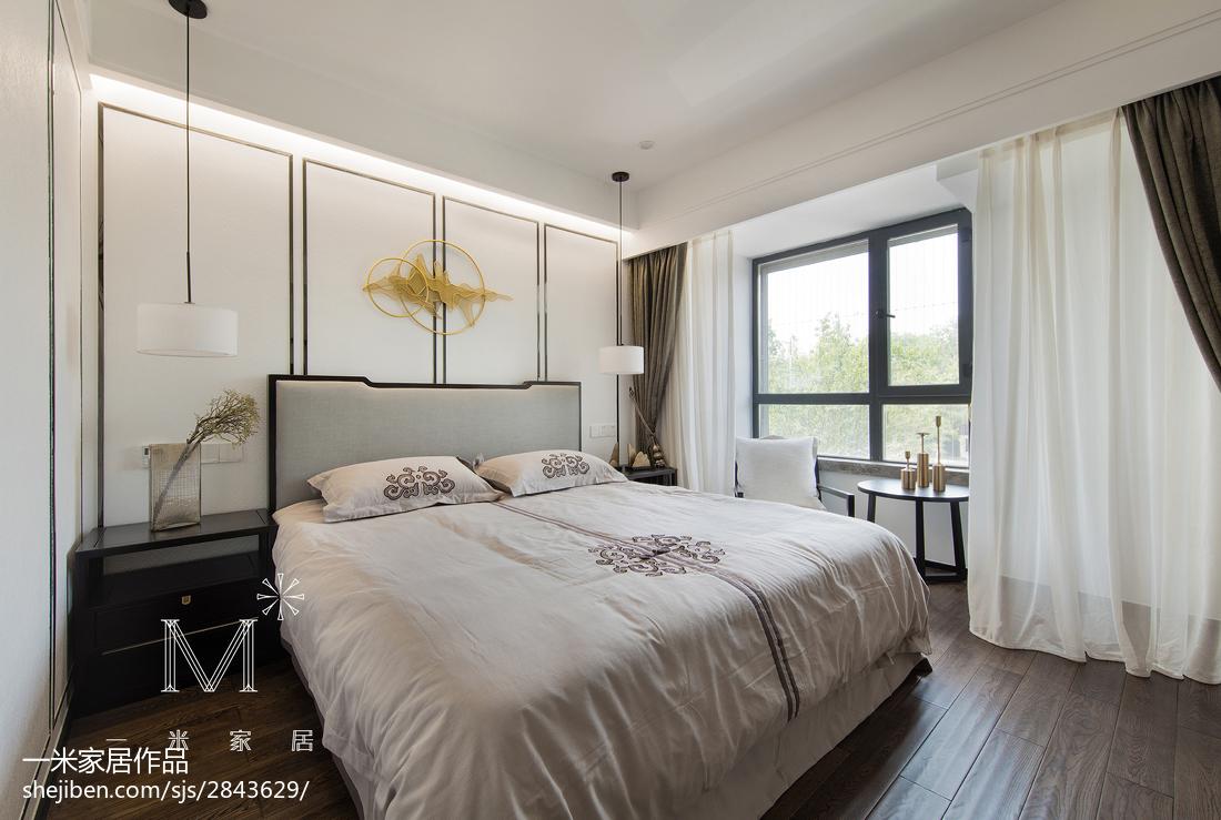 热门面积94平中式三居卧室设计效果图