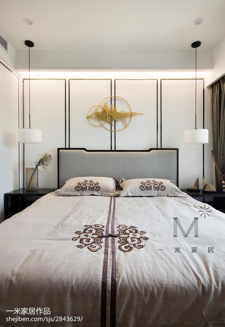 201897平米三居卧室中式装修图片