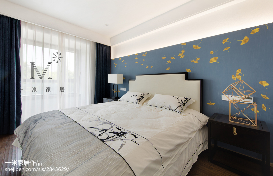 精美104平米三居卧室中式装修欣赏图片