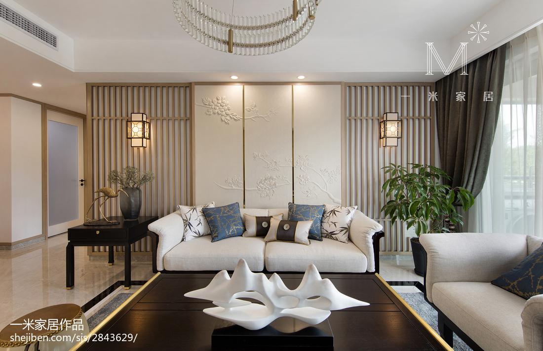 面积101平中式三居客厅设计效果图