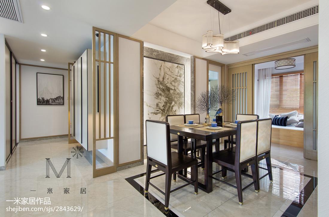 201896平方三居餐厅中式装修效果图片欣赏