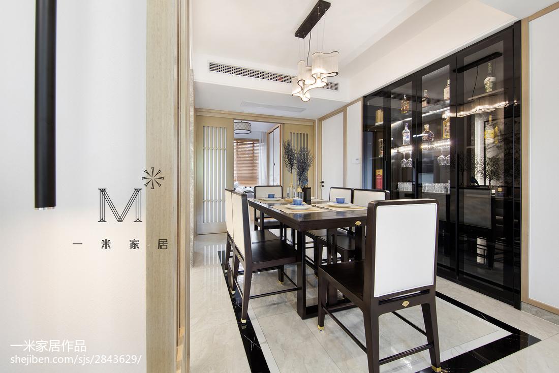 97平米三居餐厅中式装修设计效果图片欣赏