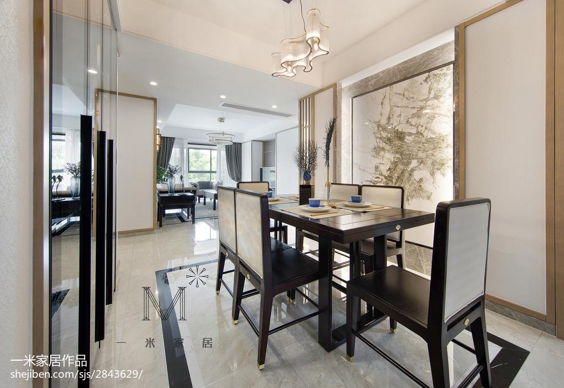 热门91平米三居餐厅中式效果图片欣赏