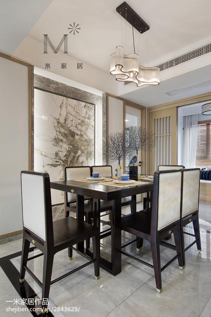热门107平米三居餐厅中式装饰图片欣赏