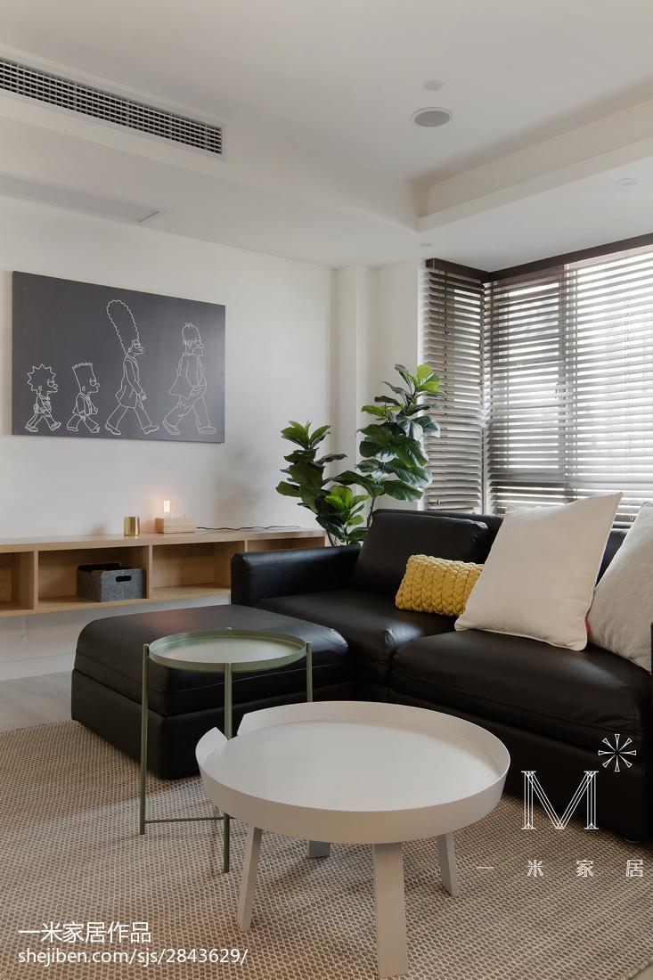 精选面积97平北欧三居客厅装修欣赏图