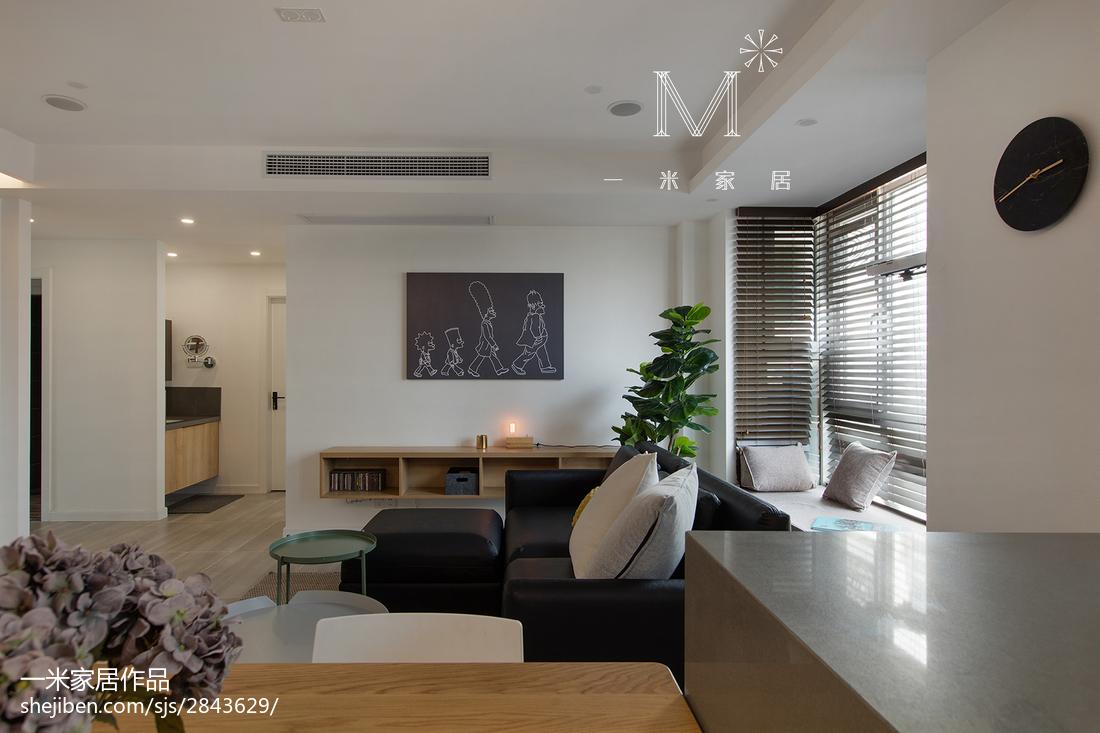 2018面积100平北欧三居客厅效果图片欣赏