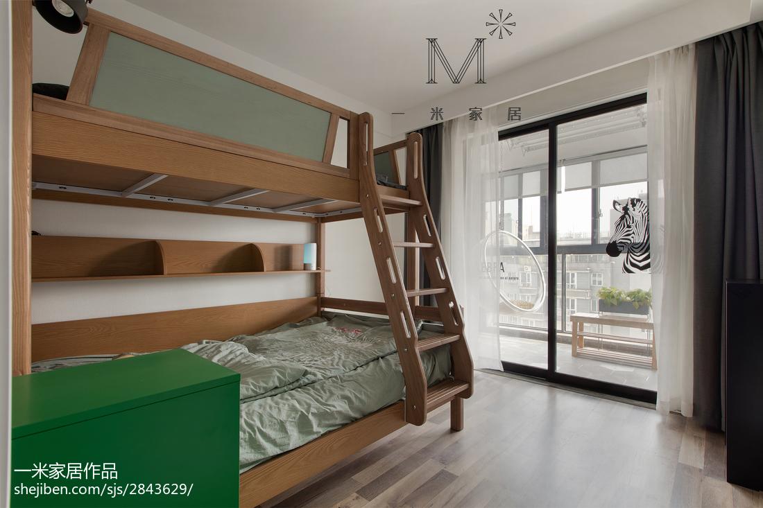 精选面积105平北欧三居儿童房实景图片
