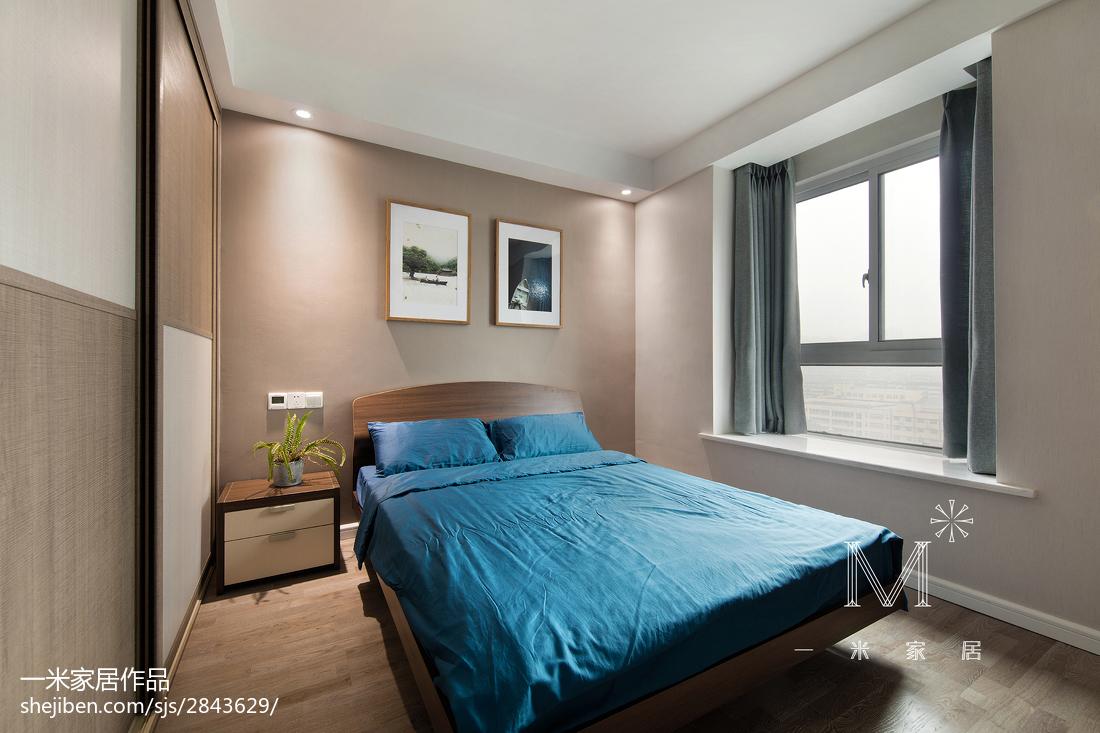 精选面积107平北欧三居卧室装修设计效果图片大全