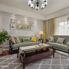 精选107平方三居客厅美式装修设计效果图片大全