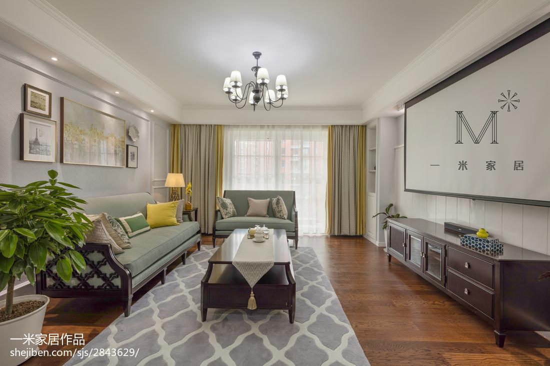 90平方三居客厅美式设计效果图