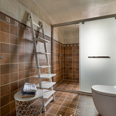 精选104平米三居卫生间美式装修设计效果图片欣赏