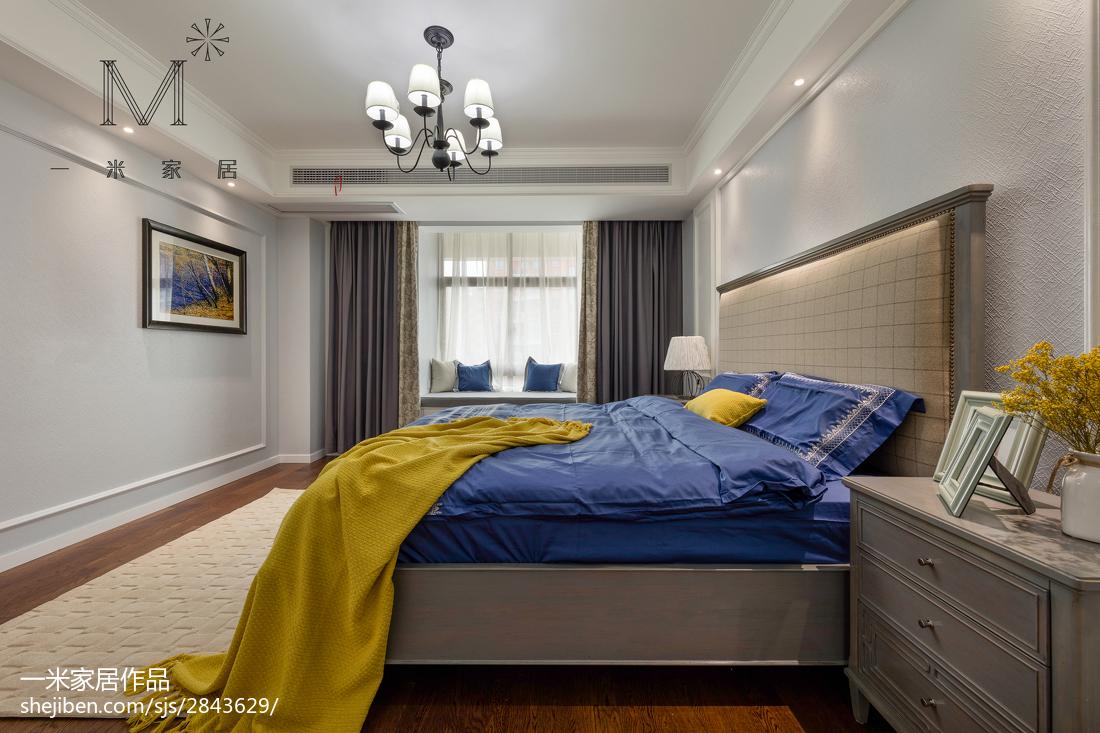 热门大小96平美式三居卧室装修欣赏图片