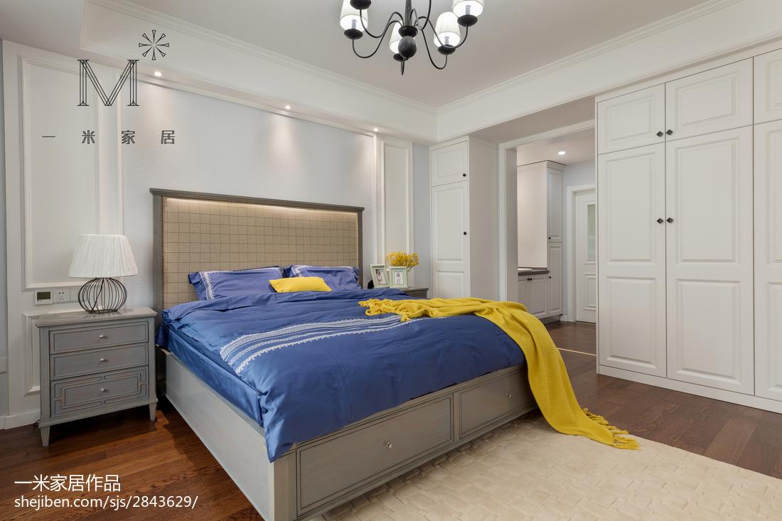 大气95平美式三居卧室装修图片