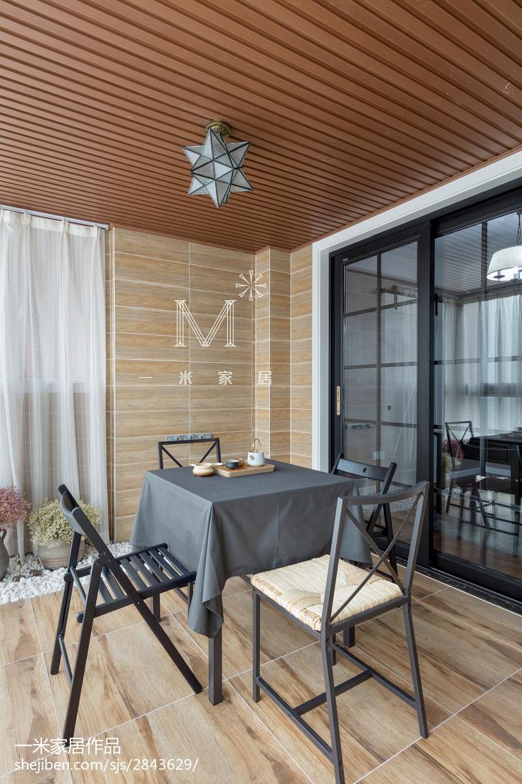 精美面积104平美式三居阳台装修欣赏图片大全