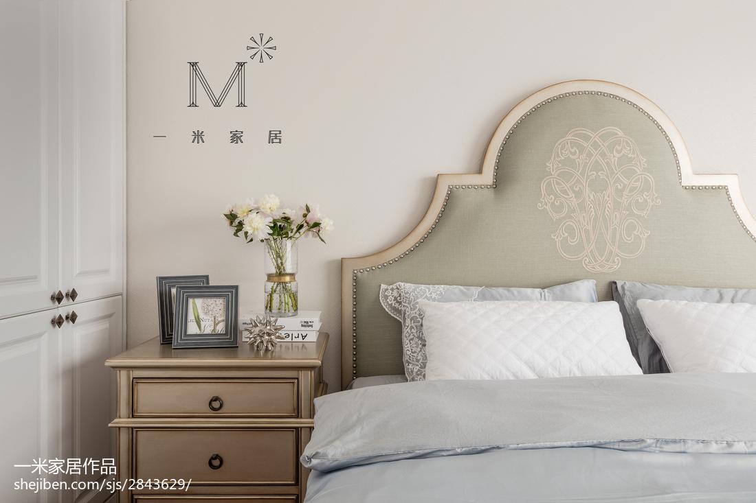 精美99平米三居卧室美式实景图片