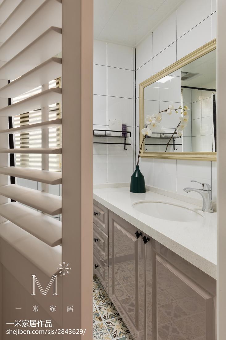 137m²美式卫浴设计图