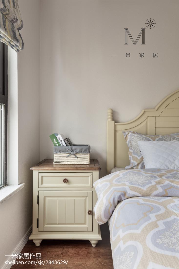 热门面积94平美式三居卧室装修效果图