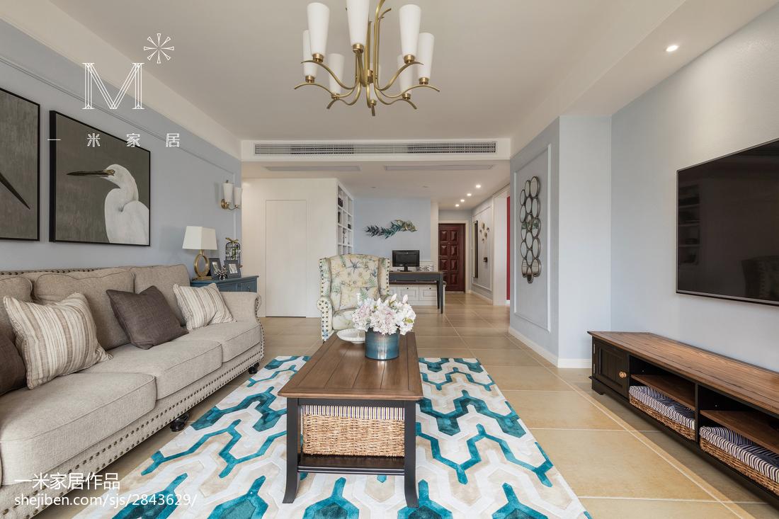精选大小101平美式三居客厅装修图片欣赏
