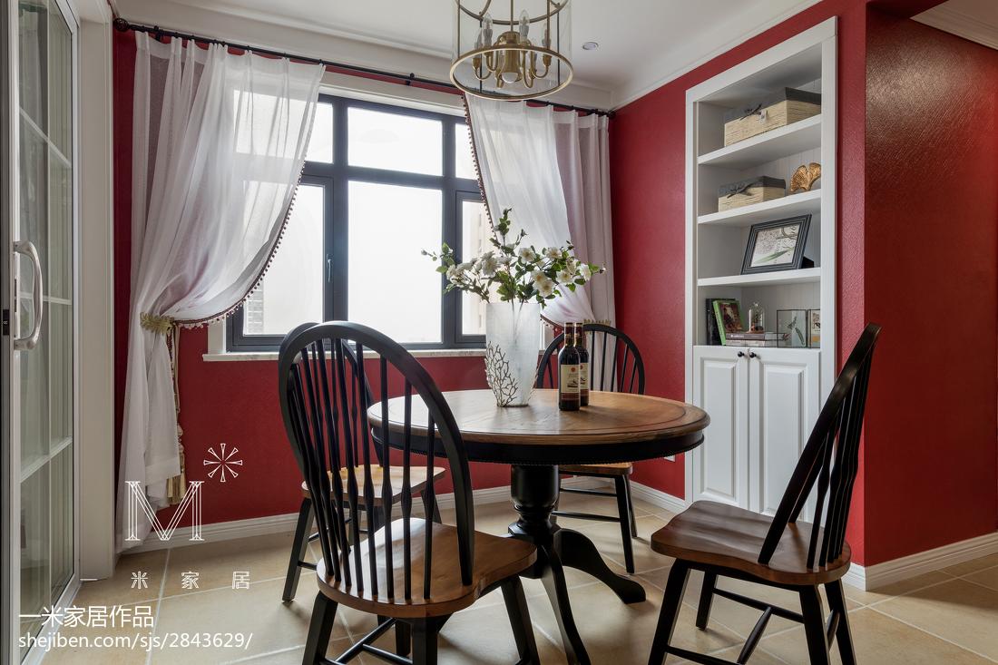 精美面积92平美式三居餐厅欣赏图片大全